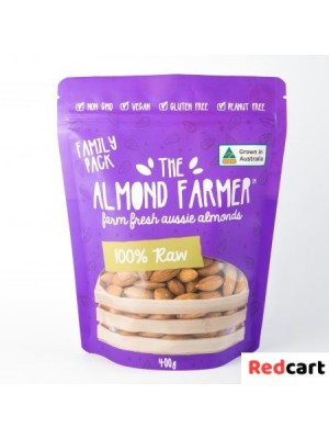 100% Raw Almonds Family Pack - 400g